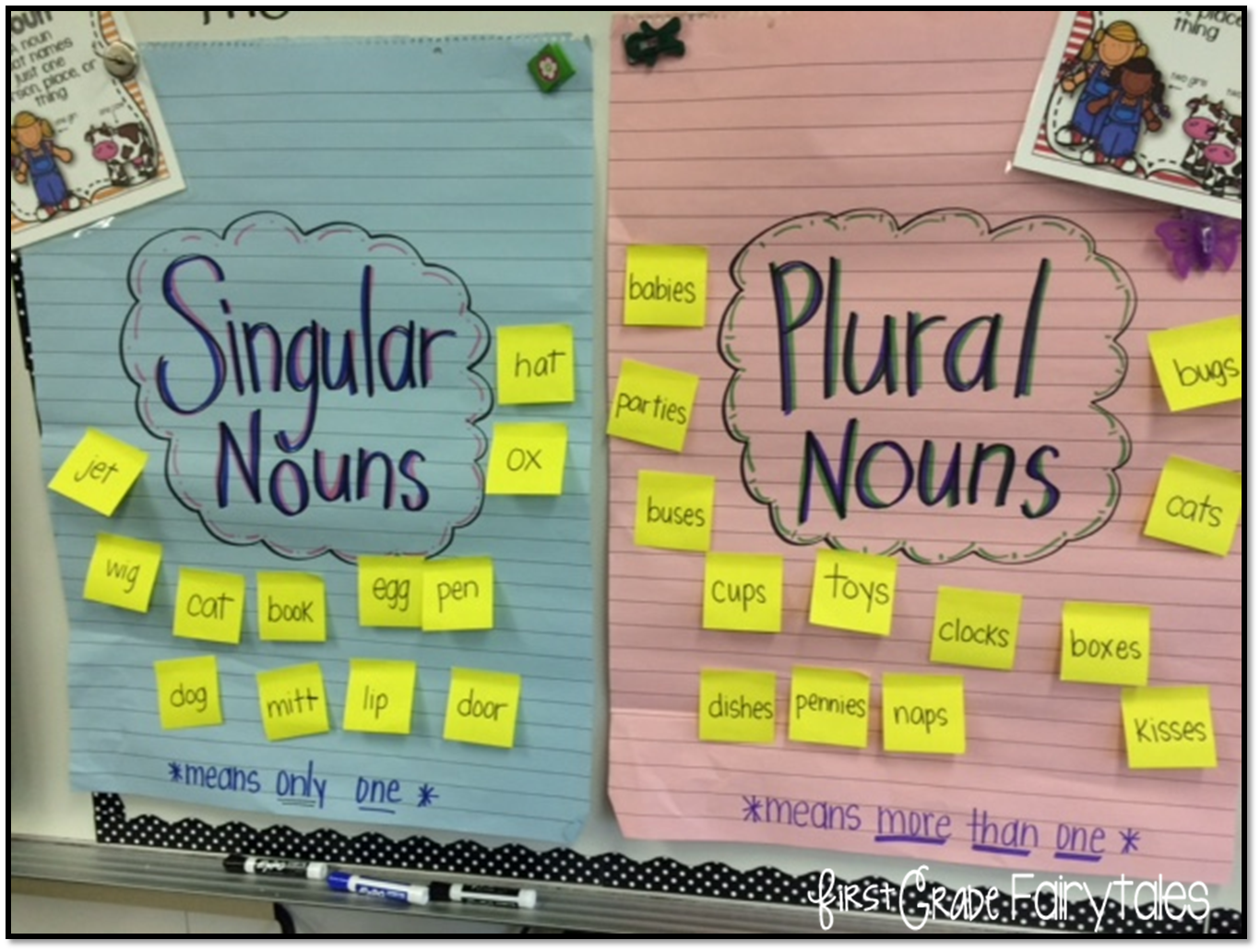 Workbooks making words plural worksheets : First Grade Fairytales: Working with Plural Nouns & FREEBIES!