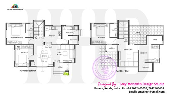 Ground floor anf first floor plan