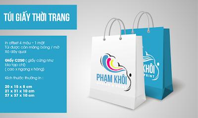 thiết kế túi giấy thương hiệu cho doanh nghiệp