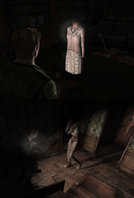 Silent Hill 2 mannequin and flashlight