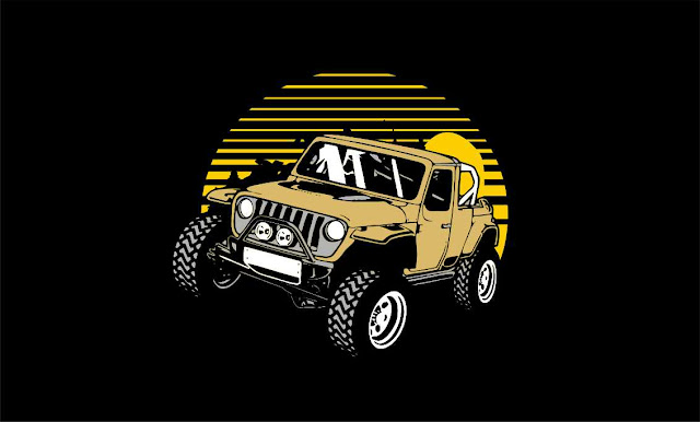 JEEP CAR ILLUSTRATION VECTOR FREE DOWNLOAD