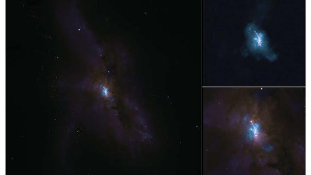 NGC 6240 - BURACOS NEGROS INTERAGINDO