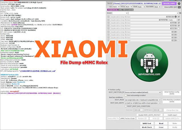 File Dump eMMC Redmi 4A ROlex Backup Normal