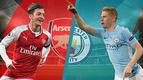Trận đấu quyết định mùa giải Ngoại hạng Anh khi Manchester City gặp Arsenal