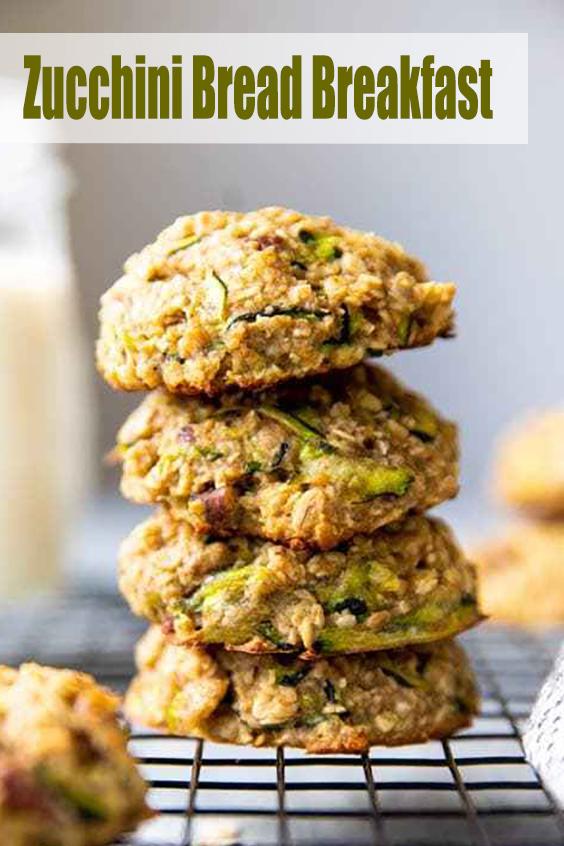 Zucchini Bread Breakfast Cookies