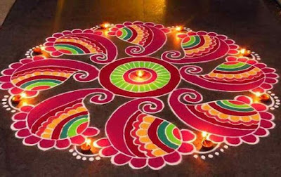 Without Dots Rangoli Design Images