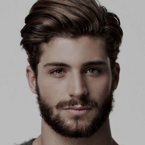Man's sexy hair style unraveled backward