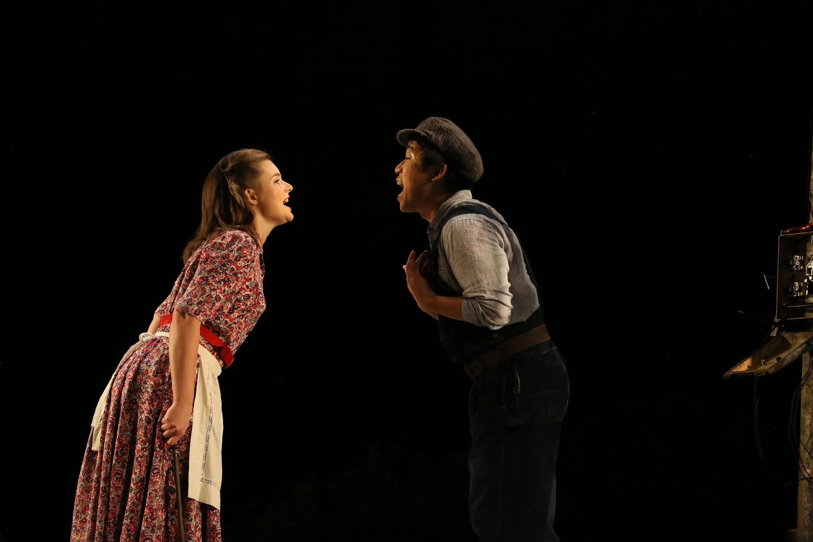 Adina (Benedetta Torre) and Nemorino (Sehoon Moon)
