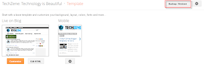 Backup Blogger Templates