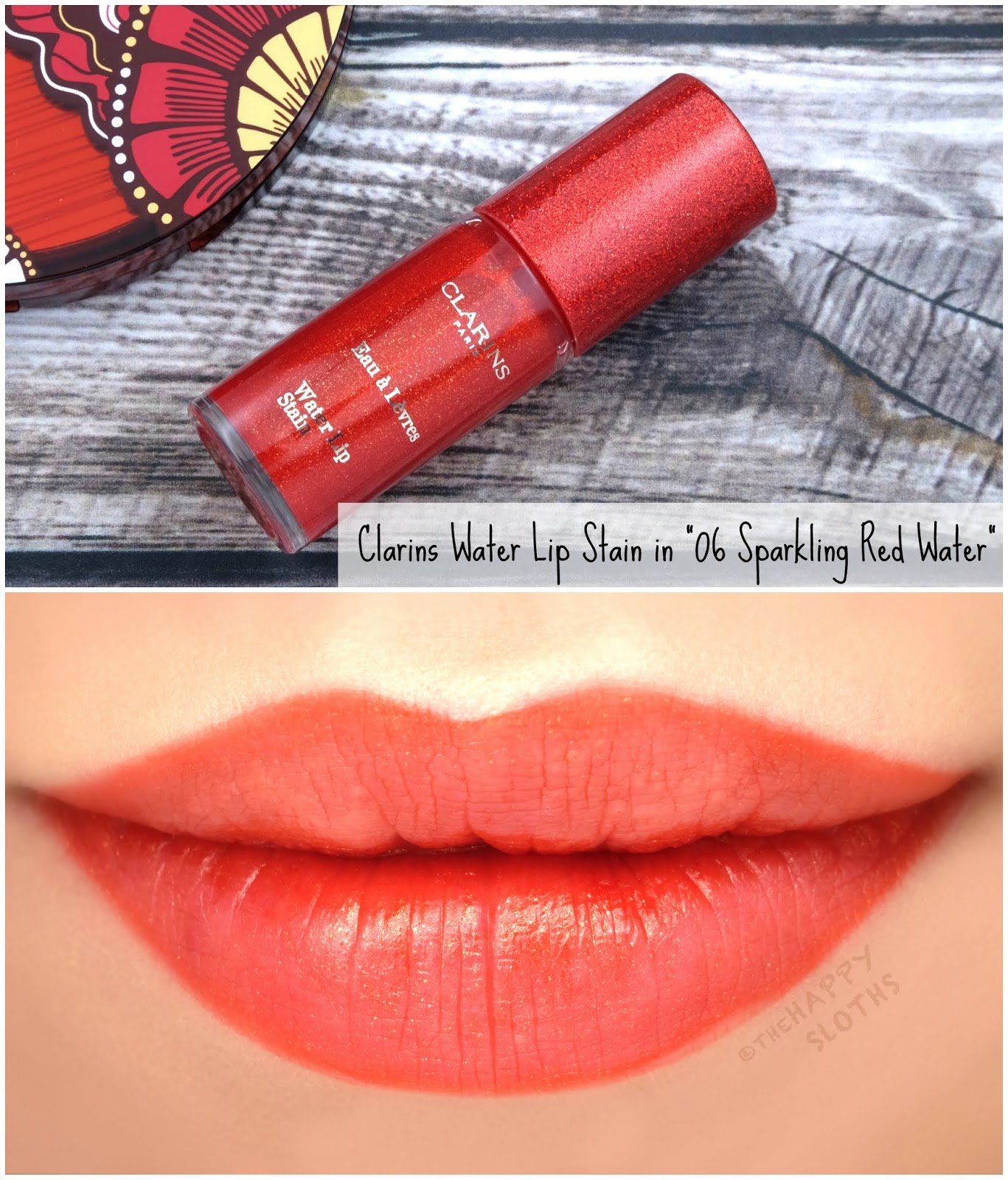 "Clarins | Summer 2019 Collection | Water Lip Stain in ""06 Sparkling Red Water"": Review"