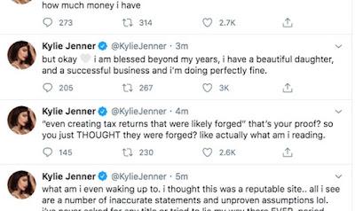 kylie jenner not a billionaire