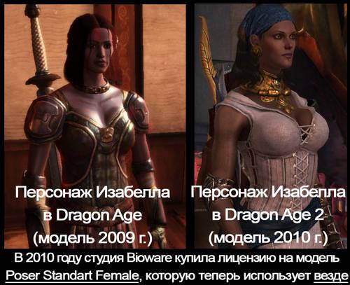 Как поменялось видение персонажа Изабеллы дизайнерами Bioware