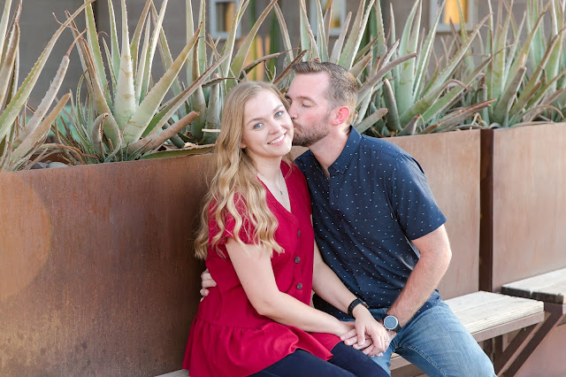Downtown Gilbert AZ Engagement Photography Session by Micah Carling Photography