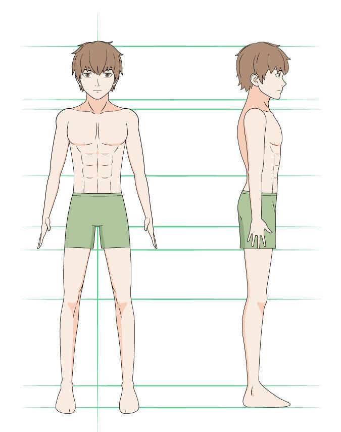 Mewarnai gambar pria anime