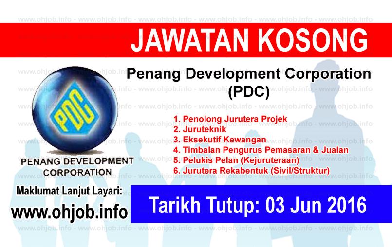Jawatan Kerja Kosong Penang Development Corporation (PDC) logo www.ohjob.info jun 2016