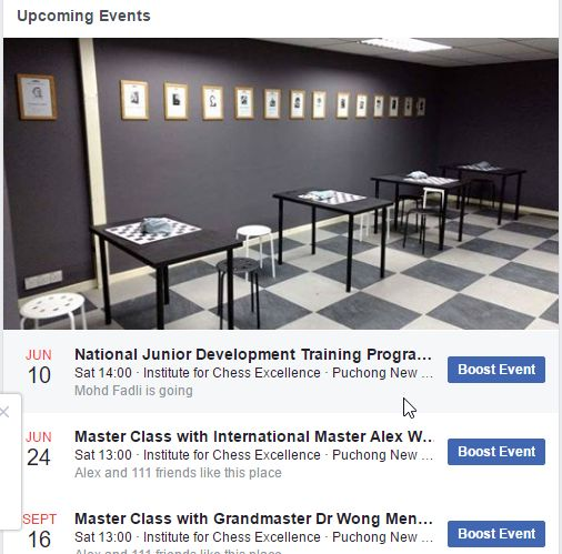 Events Now Starting to Line Up At The Institute for Chess Excellence