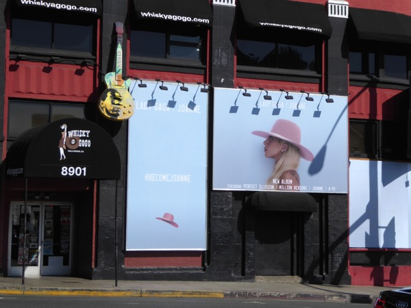 Lady Gaga Joanne album billboards