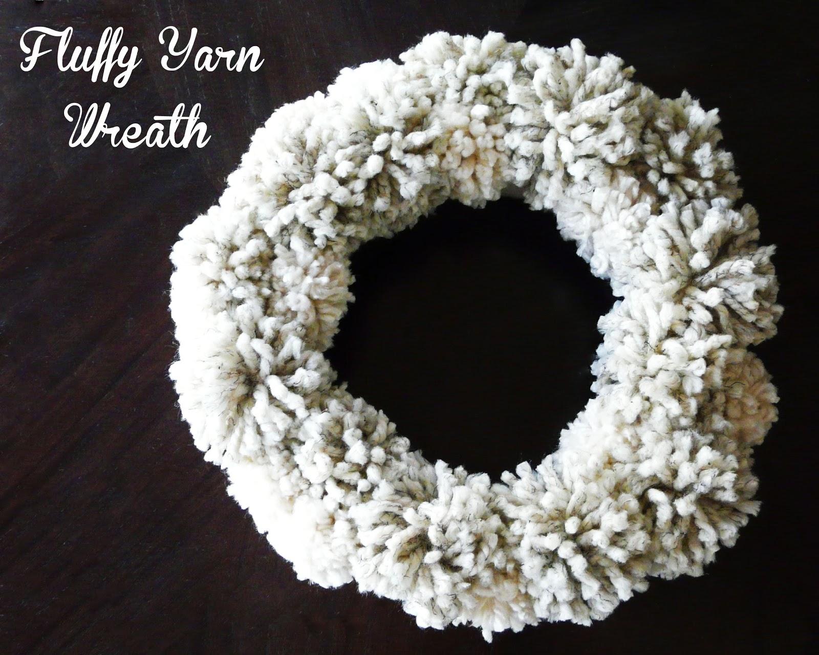 Make] Fluffy Yarn Wreath
