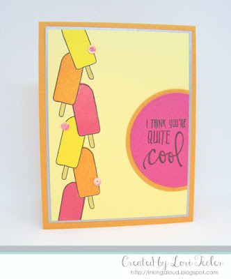 I Think You're Quite Cool card-designed by Lori Tecler/Inking Aloud-stamps from Concord & 9th