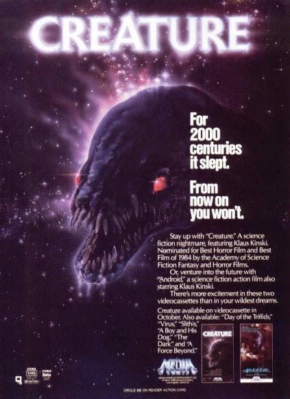 creature (1985), titan (1985), creature klaus kinski