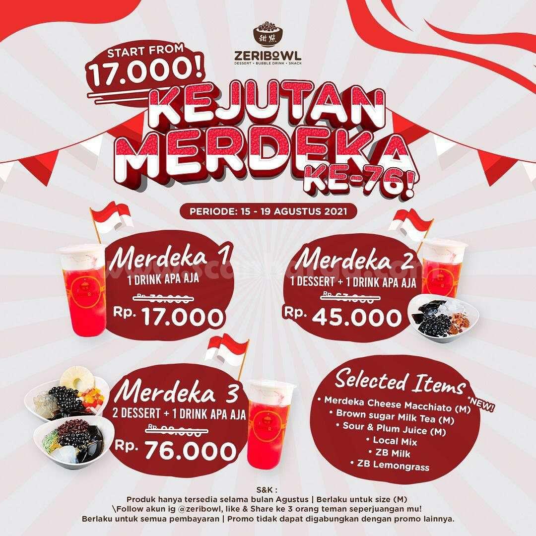 Promo Zeribowl Paket Kejutan MERDEKA harga mulai Rp.17.000