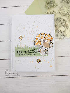 LIttle Things a card by Diane Morales - Garden Mice Stamp Set by Newton's Nook Designs