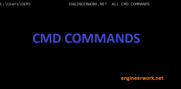 all cmd commands