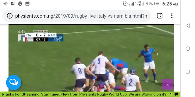 🏉 Rugby Live Italy Vs Namibia