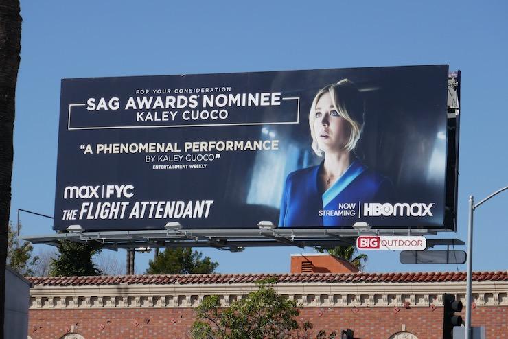Flight Attendant 2021 SAG Award nominee billboard