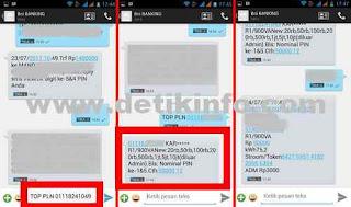pembelian token listrik via sms banking BNI