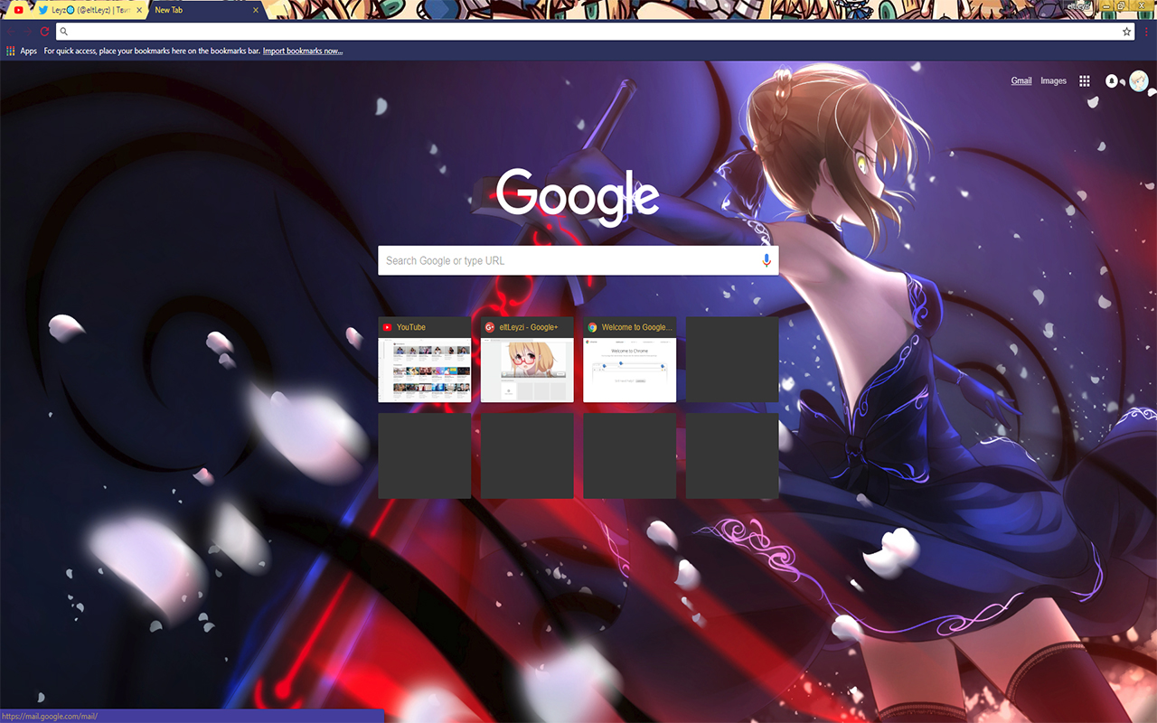 Anime Saber Fate Stay Night 1920x1080 Hd Theme For Chrome 2017