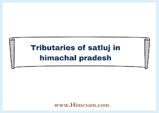 Tributaries of satluj in himachal pradesh
