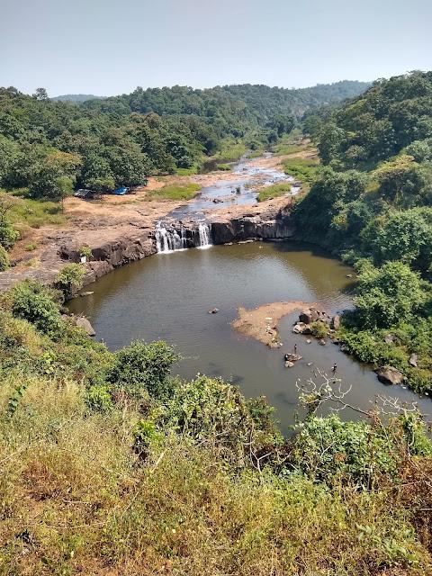 Waterfall formed in Monsoon near Surat