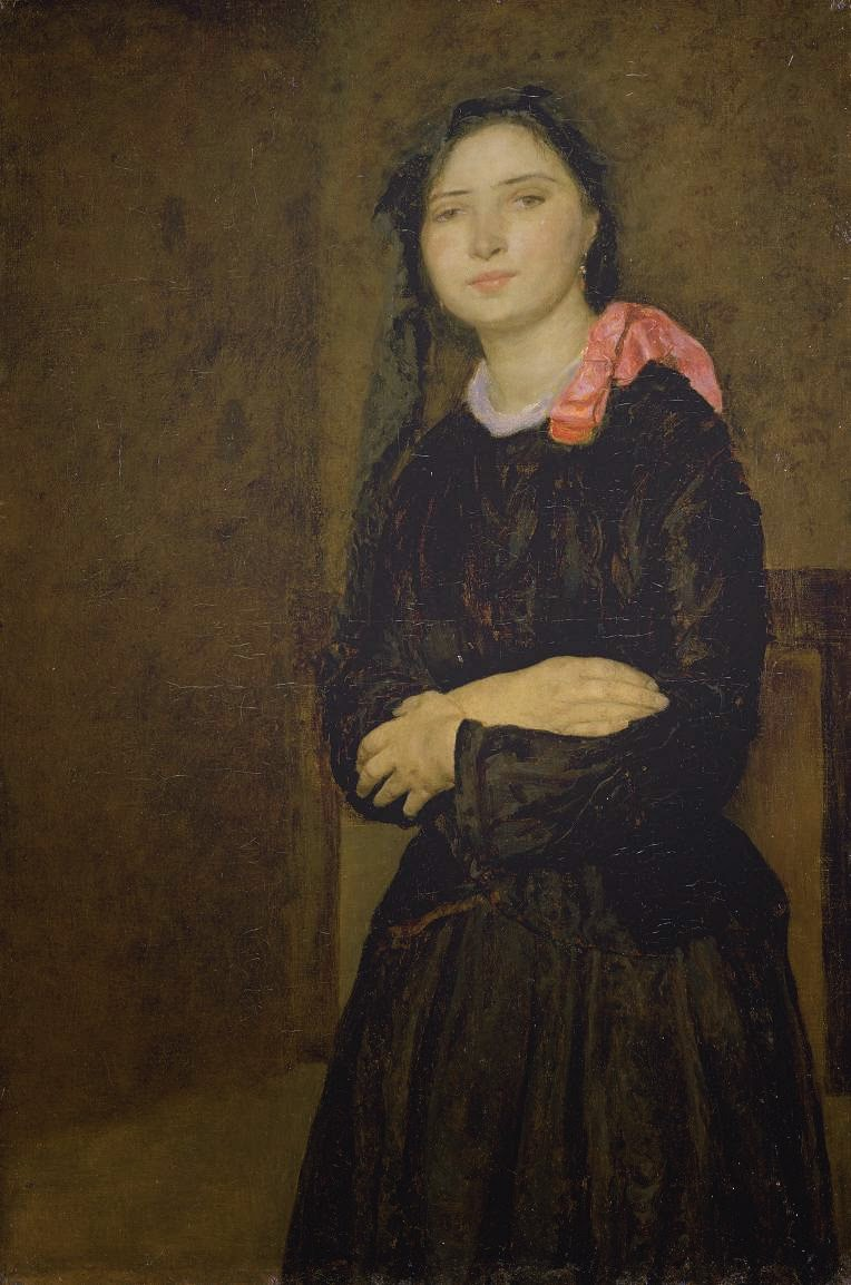 Dorelia in a Black dress, Gwen John