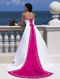 White And Hot Pink Wedding Dress Off 77 Best Deals Online