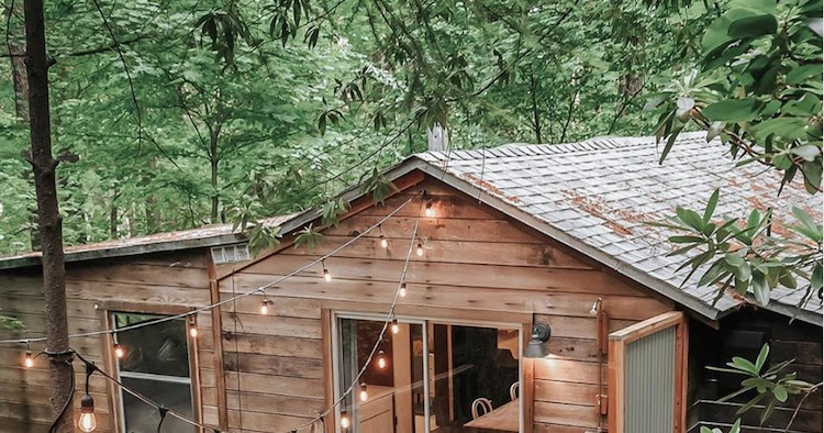 Before & After: A Dated Cabin Becomes a Dreamy Airbnb Hideaway In The Woods