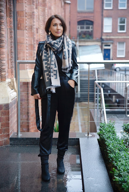 woman in cashmere scarf
