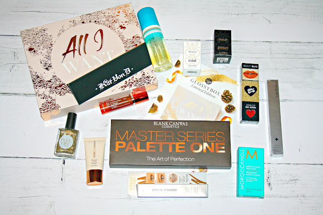 Glossybox - Cyber Monday Limited Edition 'All I Want' Box Contents
