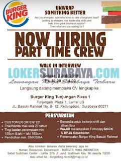 Walk In Interview Terbaru di Burger King Surabaya Juni 2019