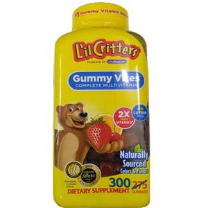 Kẹo Dẻo Bổ Sung Vitamin Tổng Hợp Cho Bé L'il Critters Gummy Vites 300 viên của Mỹ