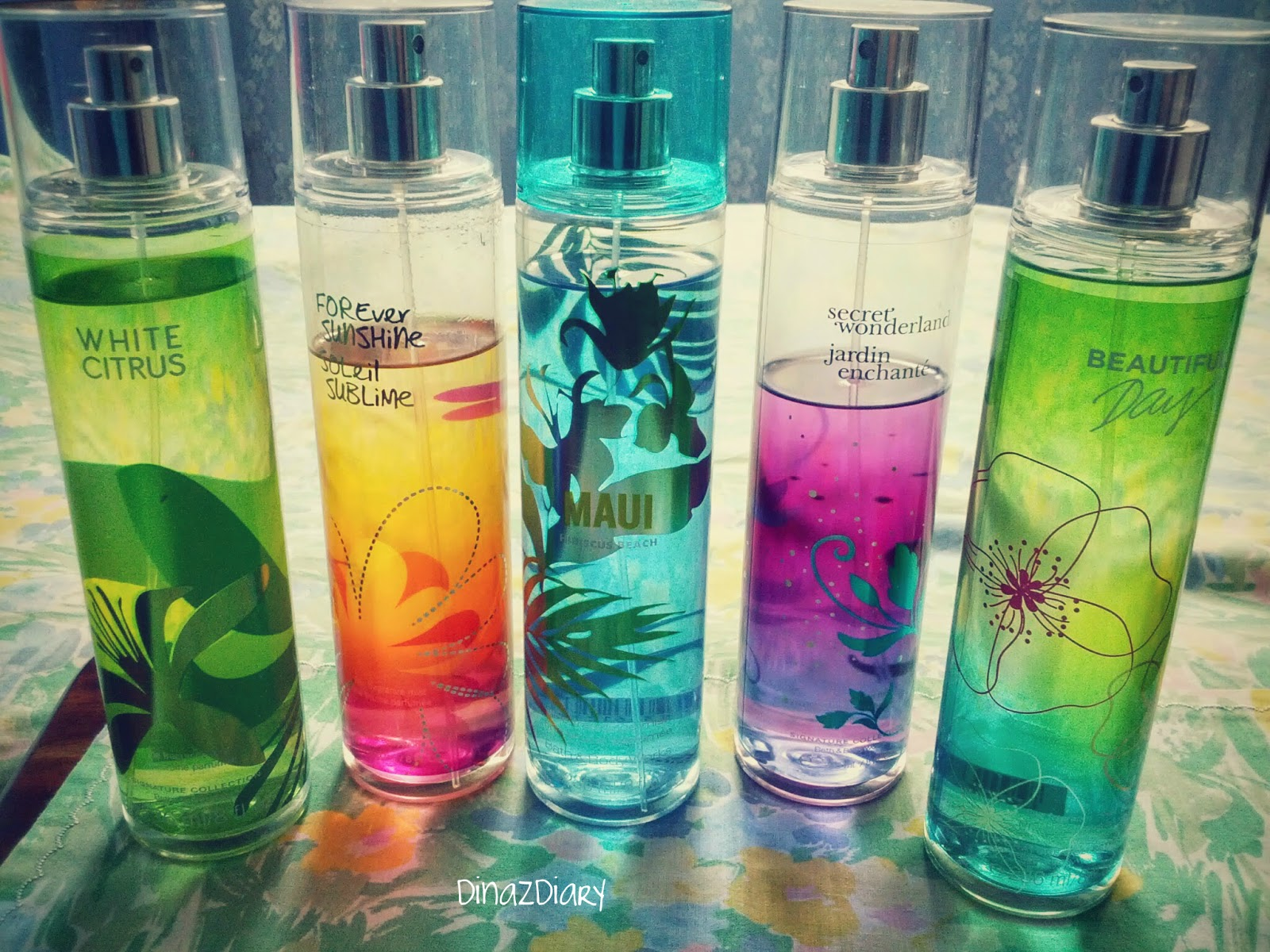Dinazdiary Summer Scents Favourite Body Sprays
