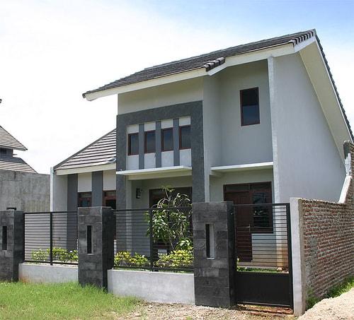Model rumah minimalis 2 lantai tampak depan