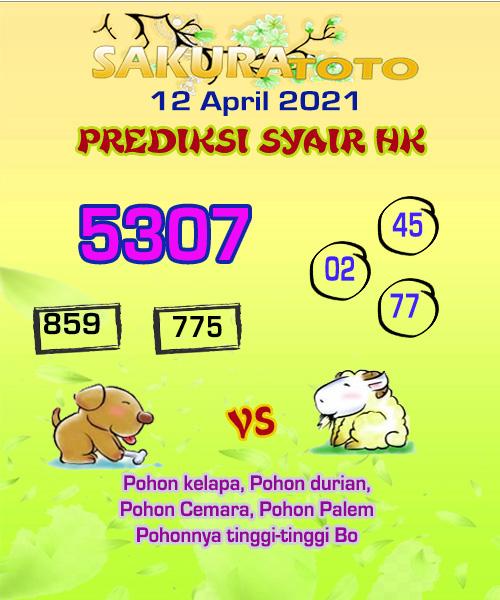 Syair HK Senin 12 April 2021 -