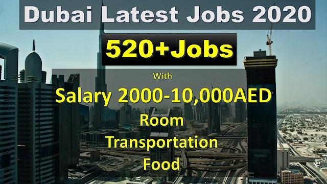 Jobs In Dubai 2020 | 520+ Vacancies In UAE |Apply Fast |