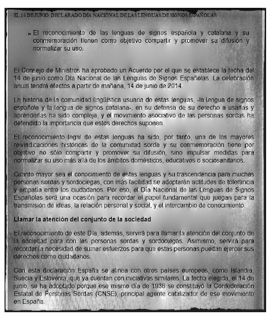 Declaración del Día Nacional de las Lenguas de Signos Españolas por el Consejo de Ministros