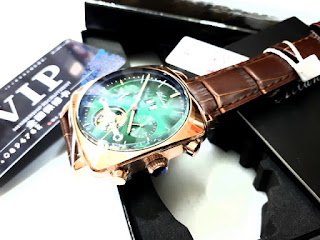 Jam Tangan Automatic Pria Ailang 8655 Chronograph Stainless Steel Waterproof