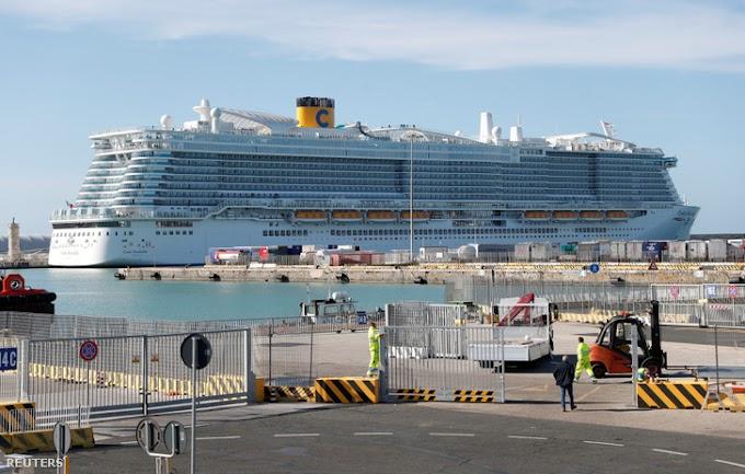Koronavírus: Olaszországban karanténba helyeztek egy 6000 utast szállító óceánjárót