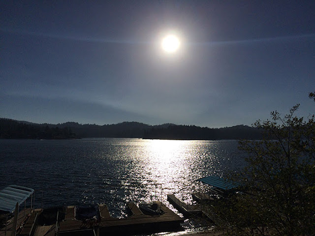 lake arrowhead, sunset