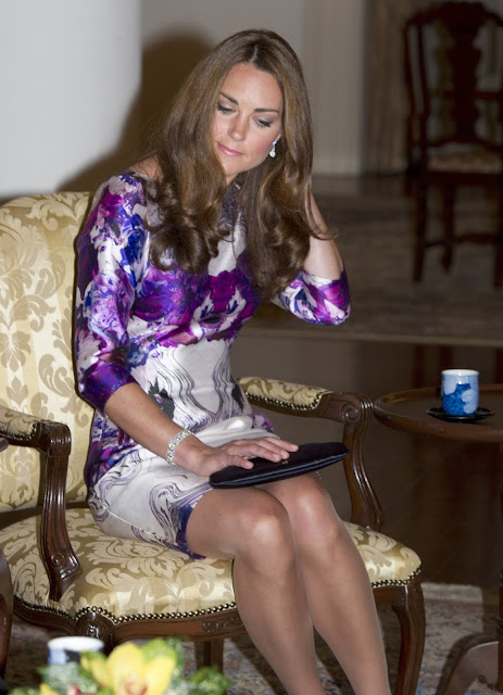 Kate Middleton trademark nude tights - At the dinner at