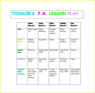 ... Lesson Plan Templates For Preschool 2016   Resume Business Template